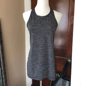 Athleta High Neck Striped Racerback XS